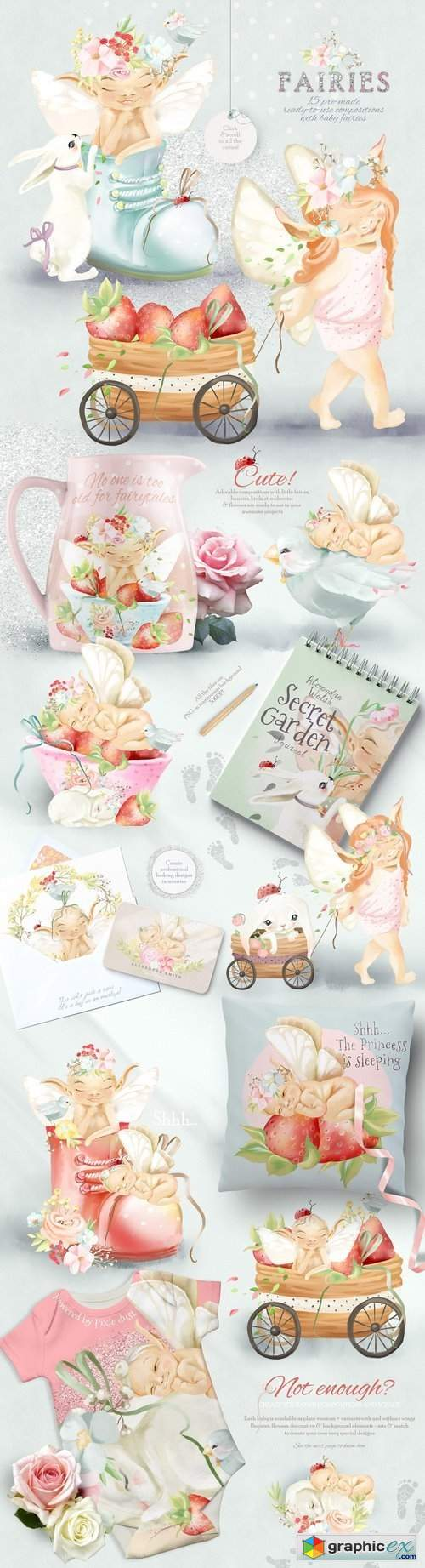 Baby Fairies Clipart Collection » Free Download Vector Stock.