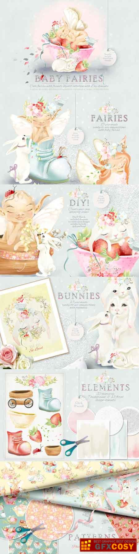 Baby Fairies Clipart Collection 2770171 » Free Download.