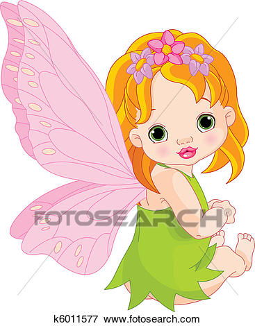 Cute baby Fairy Clip Art.