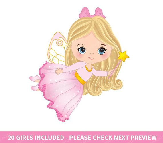 Little Fairy Clipart Vector Fairy Clipart Princess Clipart.