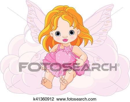 Cute Baby Fairy Clipart.