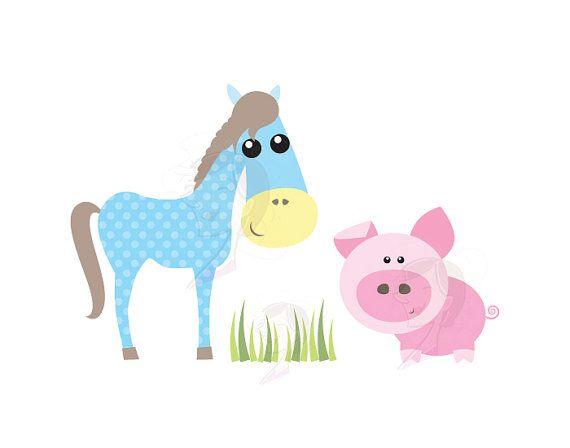 Cute Farm Animals Clipart Baby Farm Animal by.