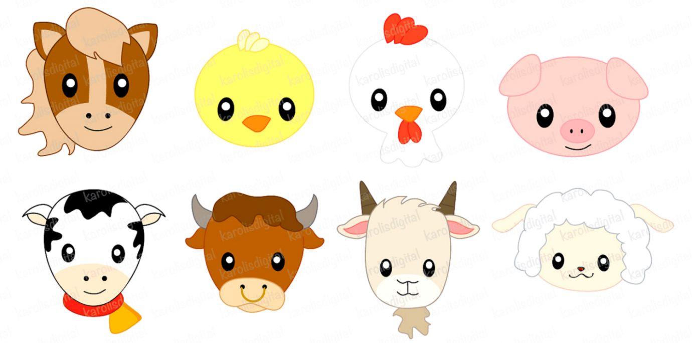 Baby Farm Animals Clipart.