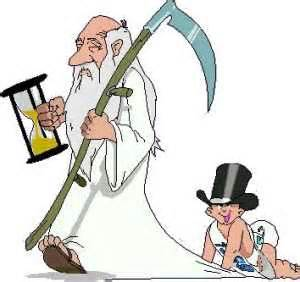 Father Time and Baby New Year.