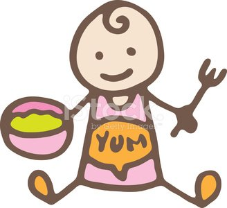 Baby food Clipart Image.