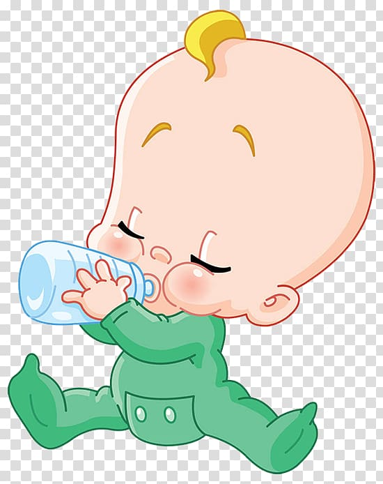 Baby holding feeding bottle illustration, Milk Infant.