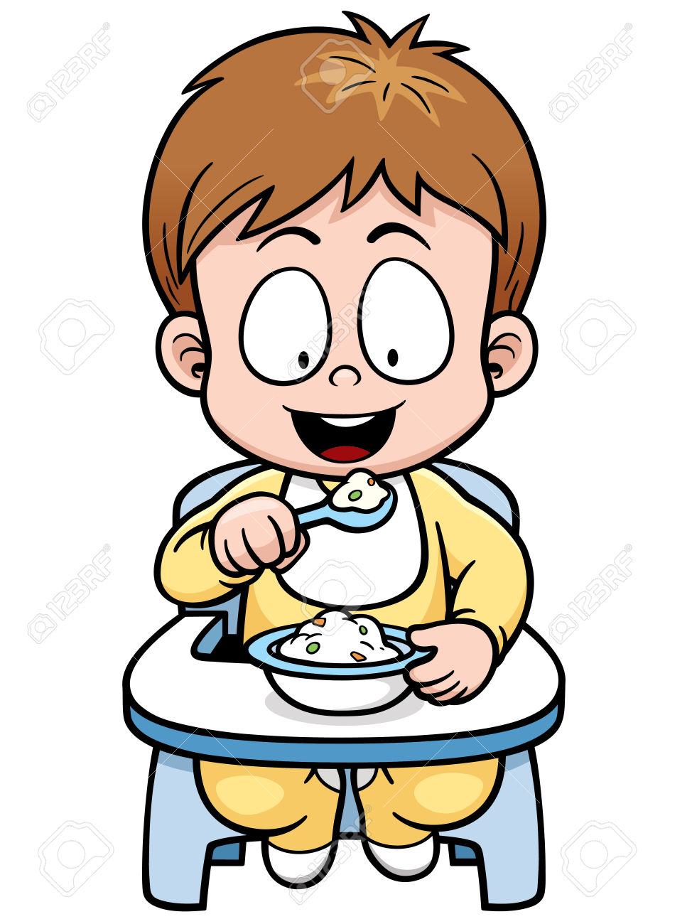 Baby Eating Clipart.