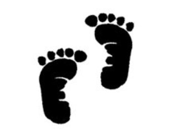 Free Black And White Baby Footprints, Download Free Clip Art.