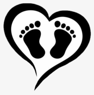 Free Baby Feet Black And White Clip Art with No Background.
