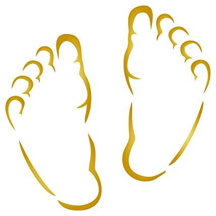 Baby Feet Stencil.