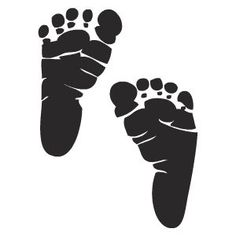 foot print clipart black and white #11