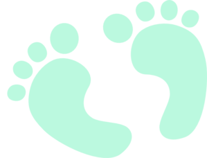 Blue Baby Feet Clipart.