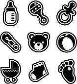 Baby feet clipart black and white 5 » Clipart Portal.