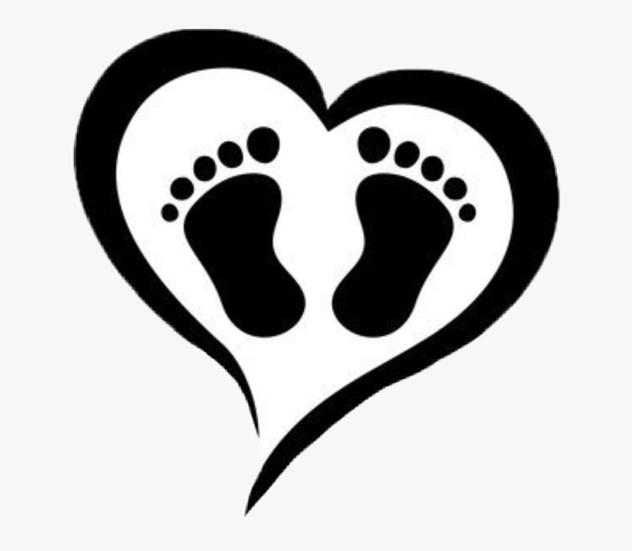 heart #baby #babyfeet #silhouette.