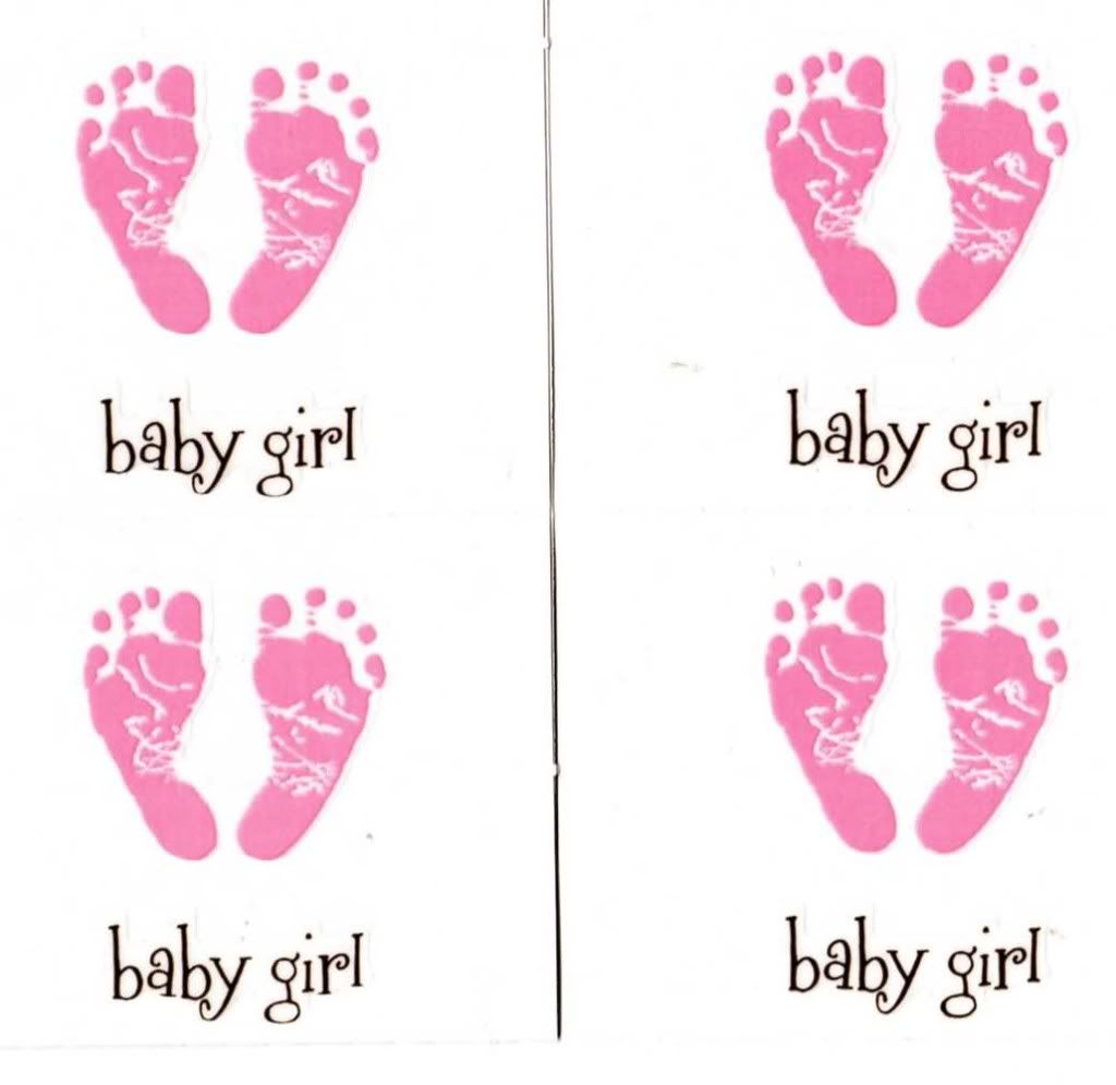Baby Foot Clip Art Girl Footprint Cake Ideas cakepins.com.
