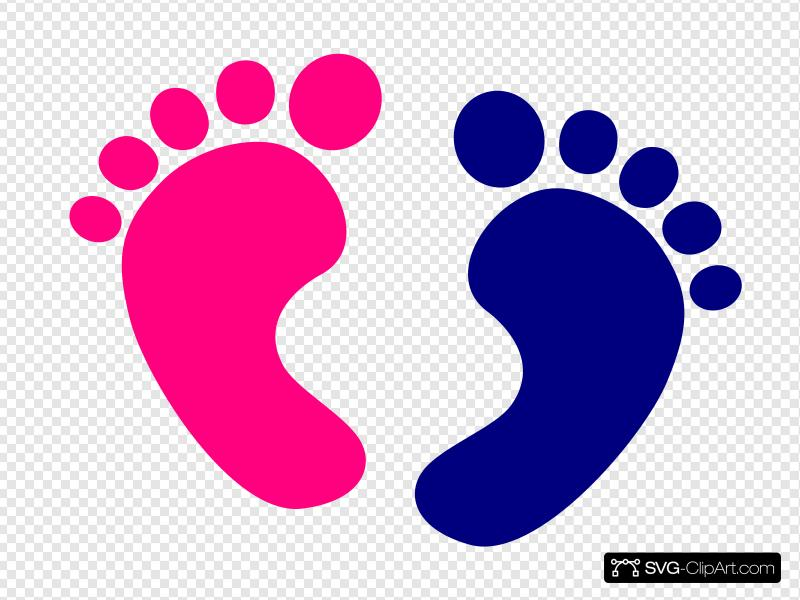 Baby Feet Clip art, Icon and SVG.