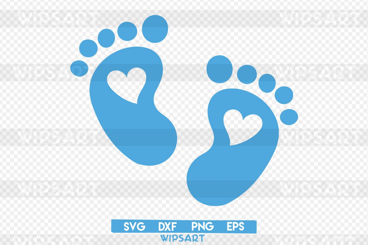SALE! Baby heart svg, baby feet silhouette svg,baby feet png.