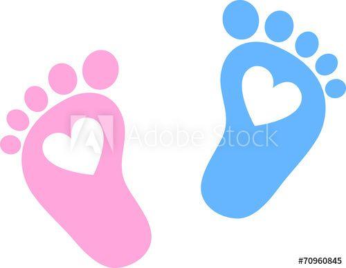 Baby Feet, Footprint, Hearts.
