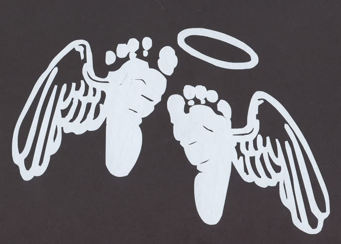Baby Feet with Angel Wings.