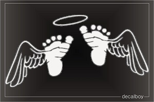 Baby Feet With Wings Clipart.