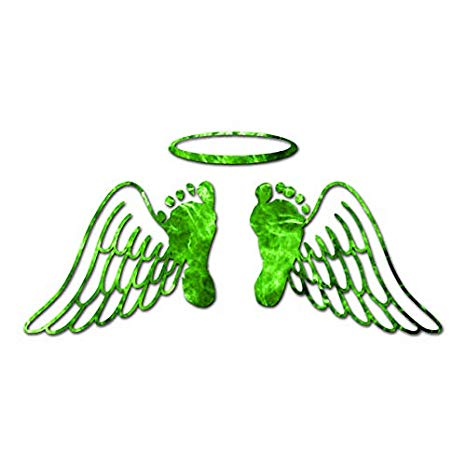 Baby Feet Memorial Angel Wings.