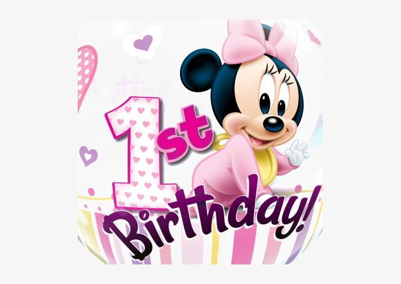 Free Baby Minnie Mouse 1st Birthday Clipart.