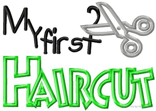 First Haircut Clipart.