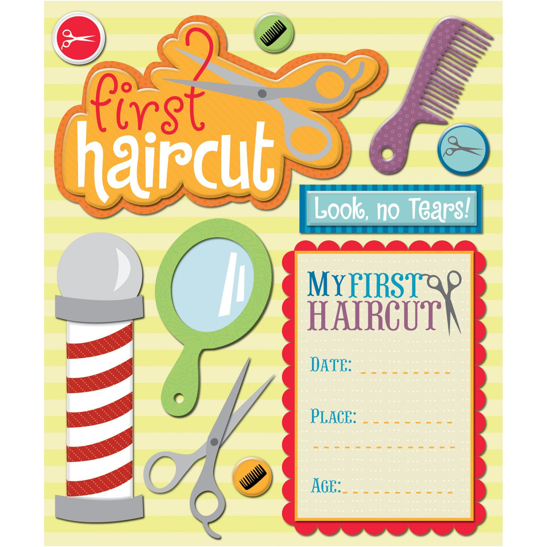 K& Company: First Haircut Sticker Medley.