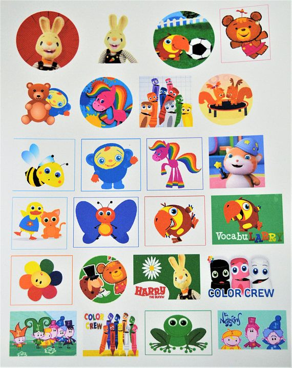 Baby First TV stickers in 2019.
