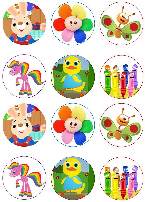 Baby TV Ebible Image Cupcake Toppers.