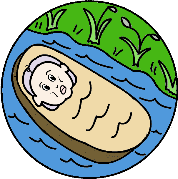 Floating Down the River Clipart.
