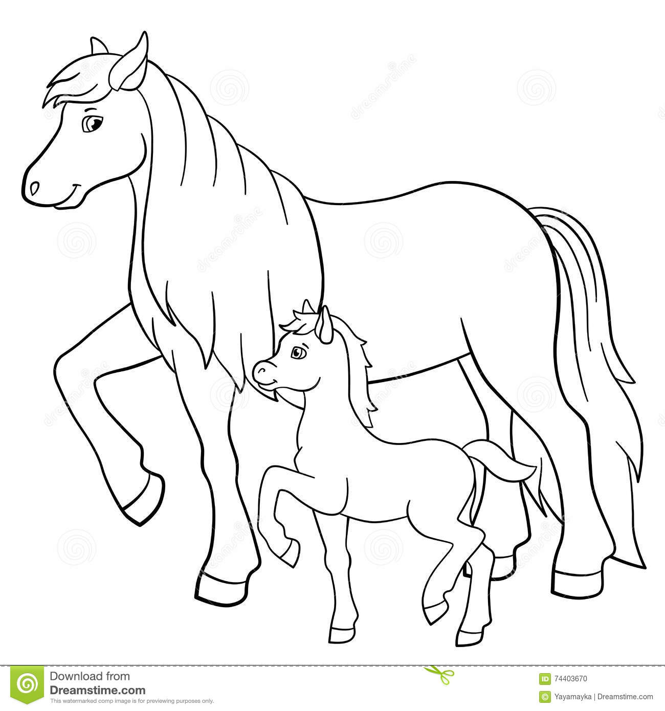 Baby Horse Clipart Black And White.