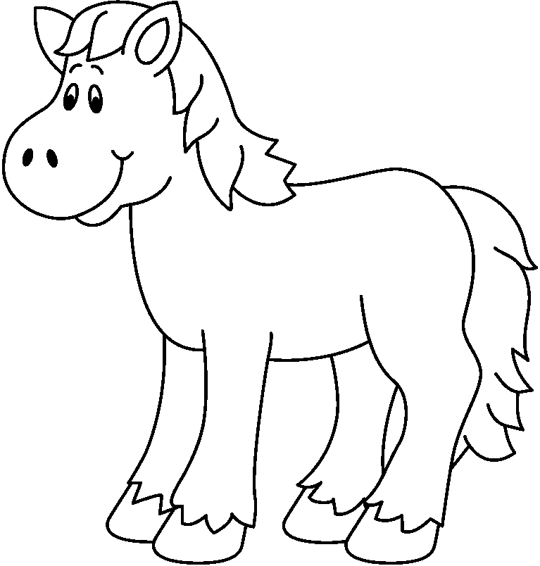 Free Black And White Horse Clipart, Download Free Clip Art.