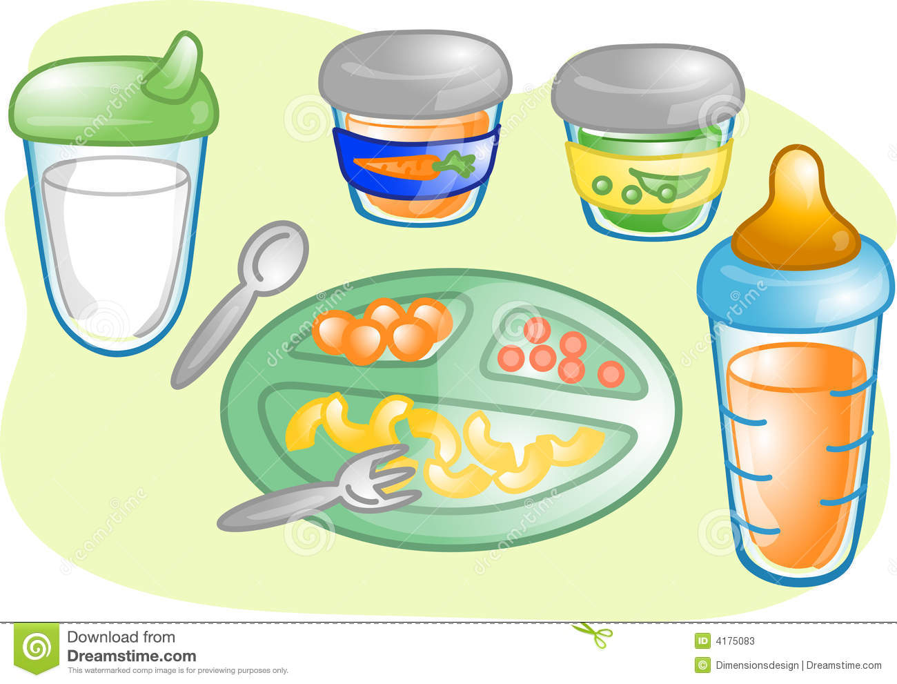 Baby food clip art.