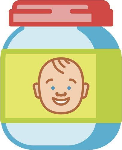 Amazon.com: BW MAG Magnet Cute Simple Baby Food Jar Cartoon.