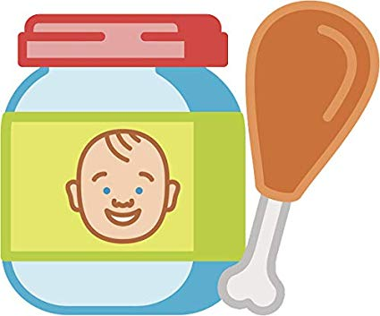 Amazon.com: Cute Simple Baby Food Jar Cartoon Vinyl Sticker.