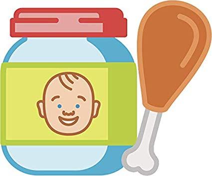 Amazon.com: Cute Simple Baby Food Jar Cartoon Vinyl Sticker.