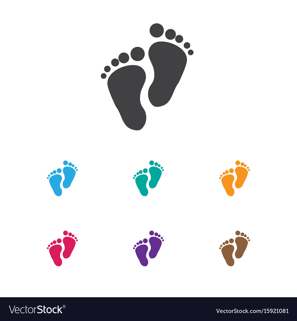 Of baby symbol on foot step.