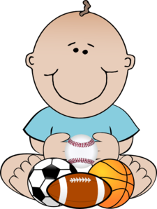 Baby Football Player Clipart.