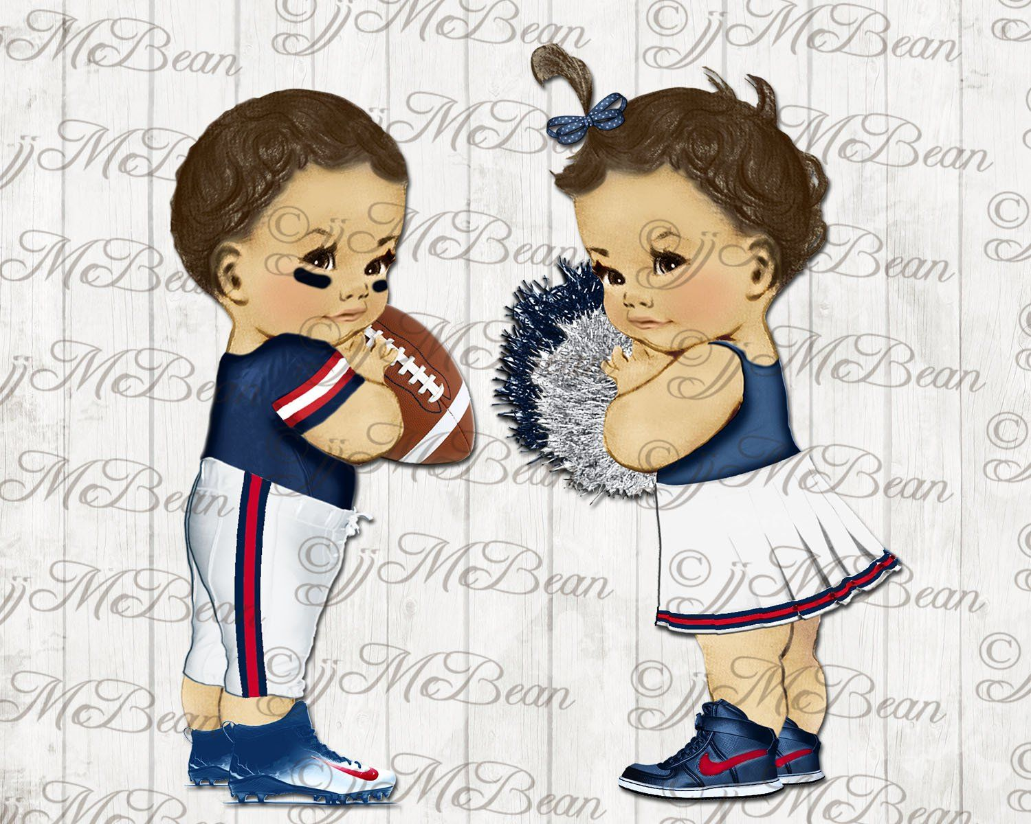 Football Player Baby Cheerleader Baby clipart Patriots png.