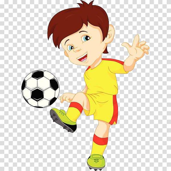 Boy playing soccer ball illustration, Football player.