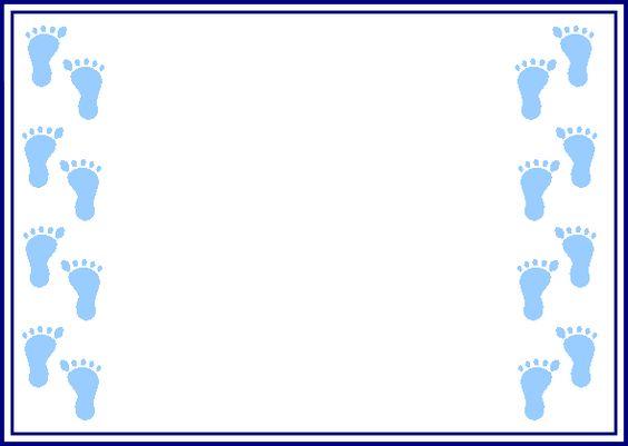 Baby footprint border clipart.