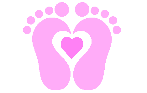 Baby footprint clipart.