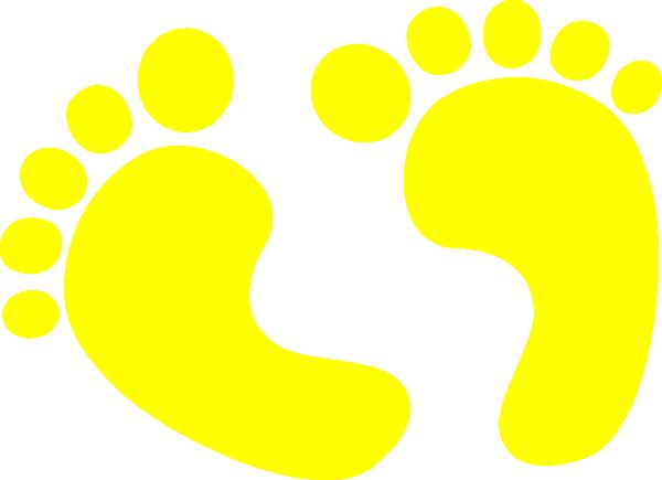 Baby Feet Yellow Clip Art at Clker.com.
