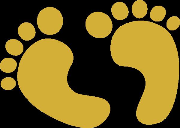 Gold Baby Feet Clip Art at Clker.com.
