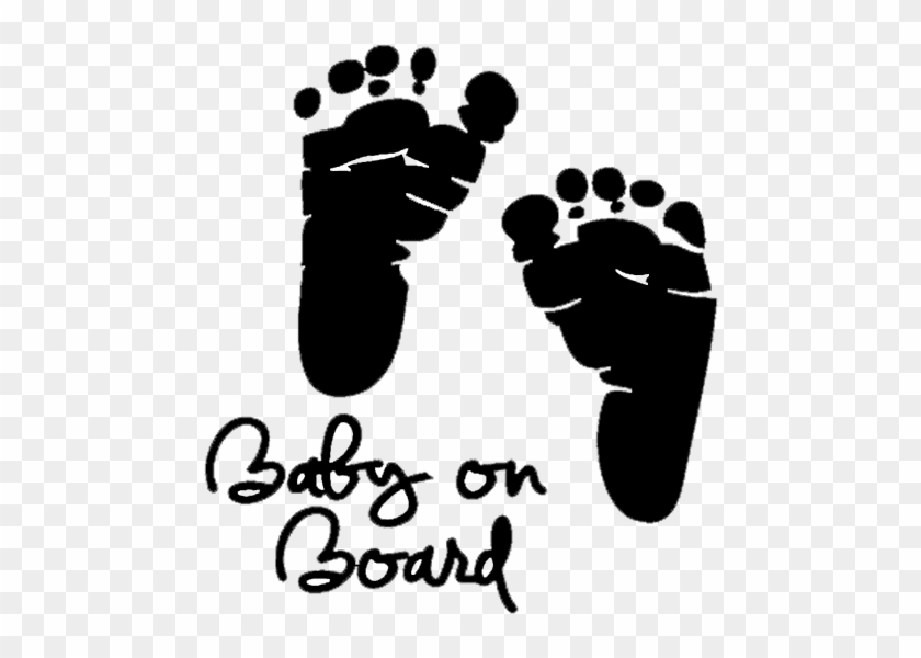Baby On Board Footprint, HD Png Download.