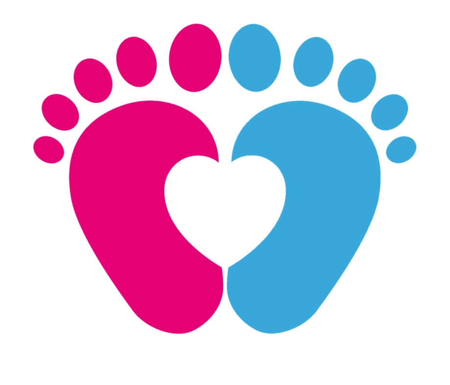 Pink Baby Footprints Png Image Black And White.