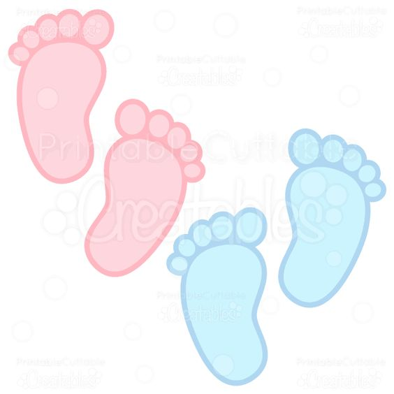 """Baby Footprints"""" FREE SVG Cutting Files & Clipart includes: SVG."""
