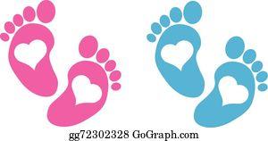Baby Footprints Clip Art.