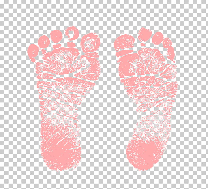 Footprint Infant Child , Baby Feet, pink footprint.